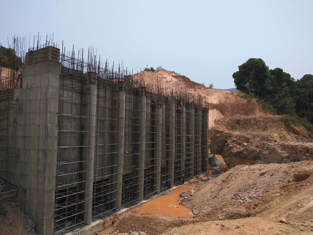Ongoing construction at Yettinahole